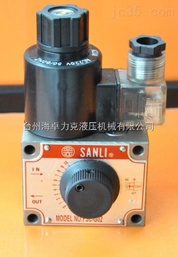 欣三立SANLI注塑机流量阀