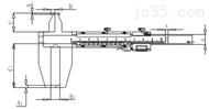 内径游标卡尺10-160/50-550mm(哈量)