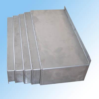 整体伸缩片式钢板式防护罩产品图