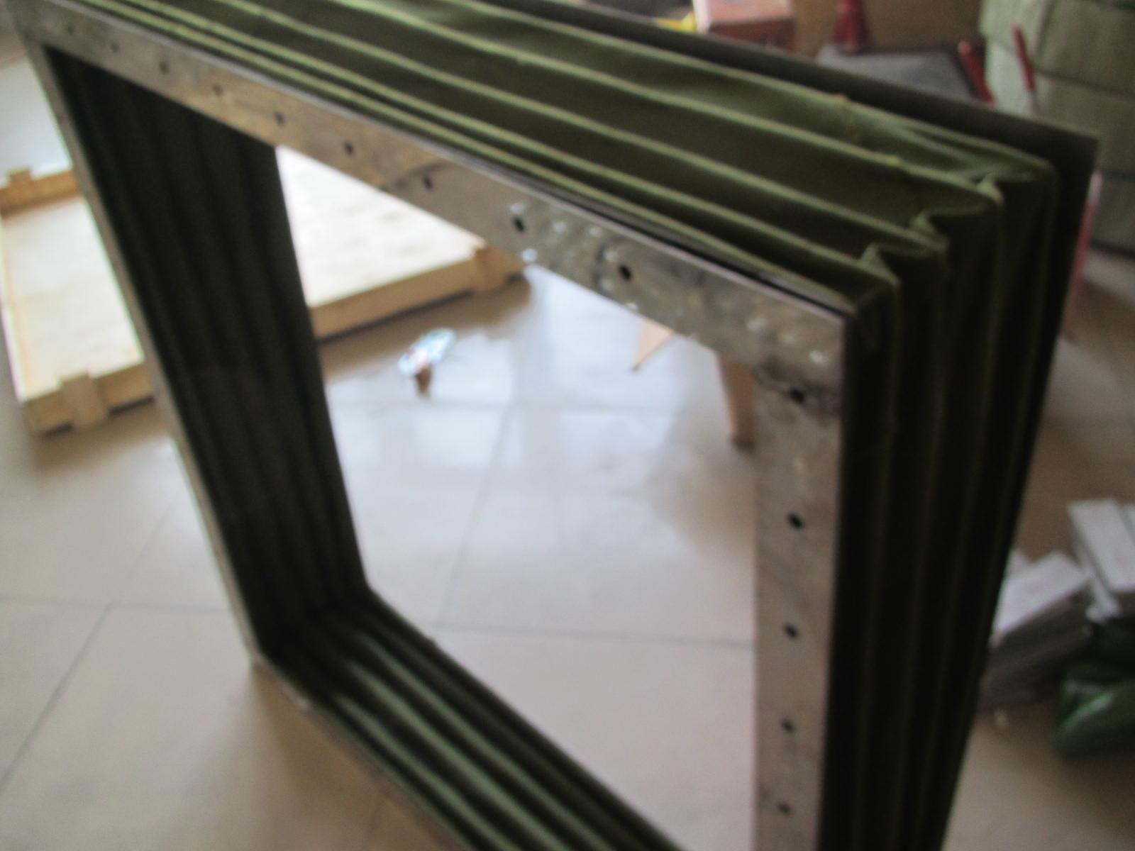 阻燃防尘方形帆布软连接产品图